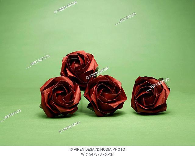 origami roses India Asia