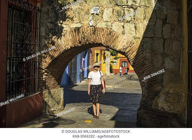 woman, 26, on a street in Oaxaca city, Oaxaca, Mexico