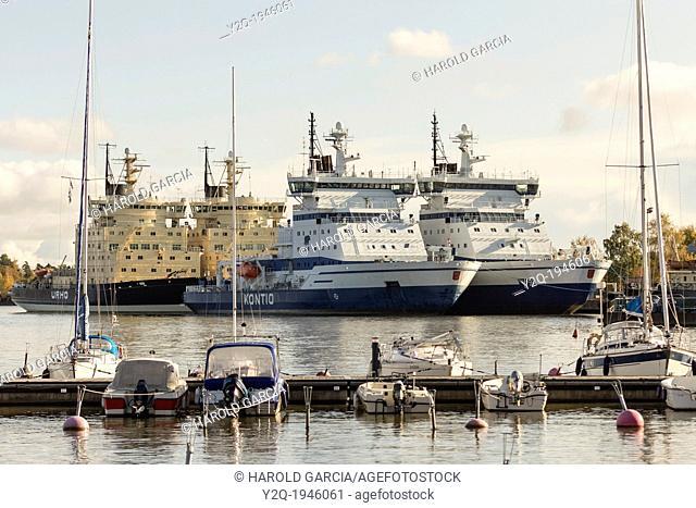 Finnish Vessels in Helsinki Finland