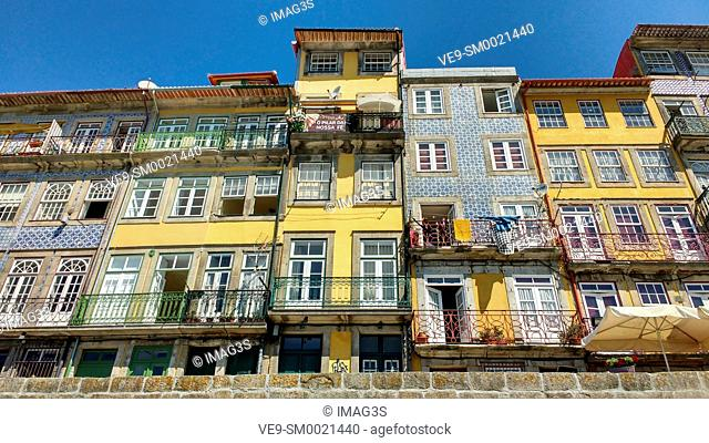 Porto old town, the Ribeira Quarter, Portugal