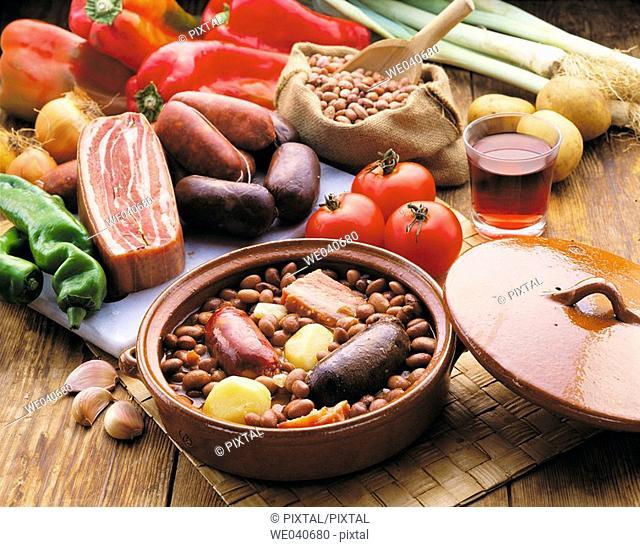 Pinto beans stew, Basque cuisine