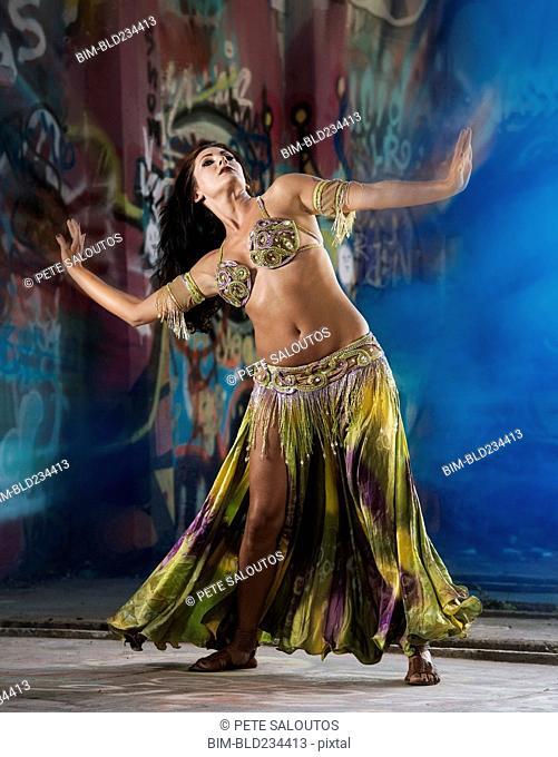 Belly dancer on stage