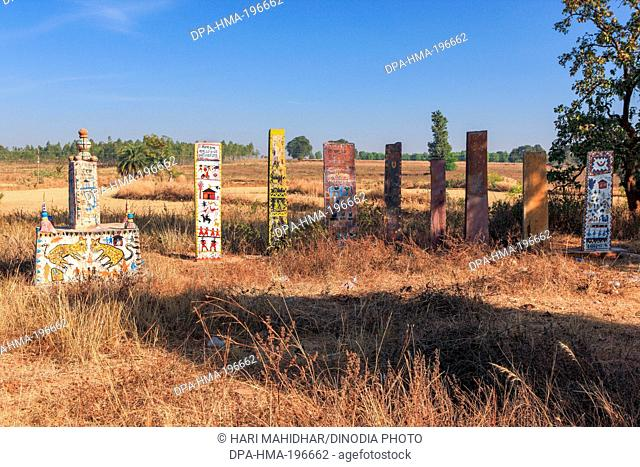 Stone grave, bastar, chhattisgarh, india, asia