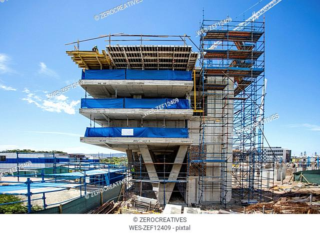 Construction site of an office building
