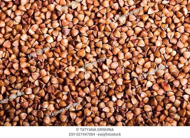 buckwheat groats. background