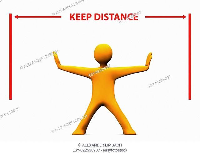 Manikin Keep Distance