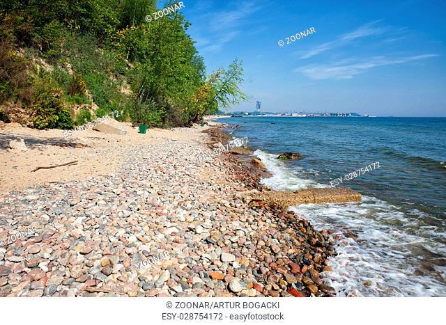 Pebble Beach at Baltic Sea in Gdynia