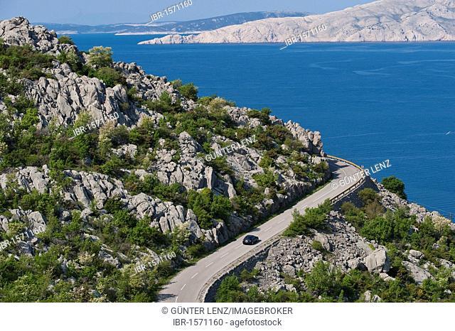 Adriatic coastal road, Senj, Croatia, Europe