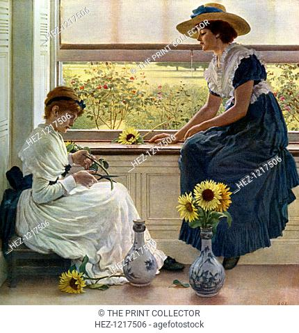 'Sun and Moon Flowers', 1890, (1912). A colour print from Famous Paintings, with an introduction by Gilbert Chesterton, Cassell and Company, (London, New York