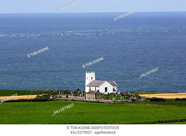 Church of Ireland at ballingtoy, dates to 1813 but the earliest grave is from 1696