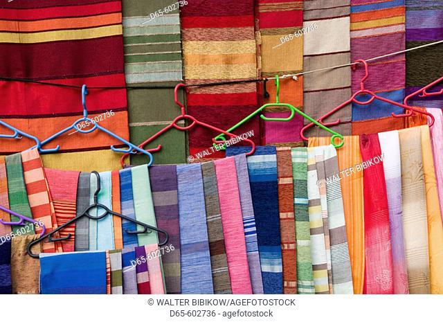 Morocco. Atlantic Coast. Essaouira. Moroccan Fabrics