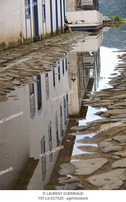 Puddle of Water, Paraty, Rio de Janeiro, Brazil