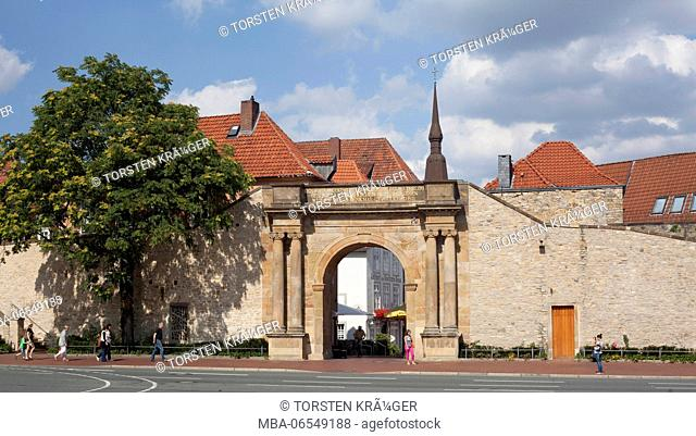 Heger gate in the old town, memorial, Osnabrück, Lower Saxony, Germany, Europe