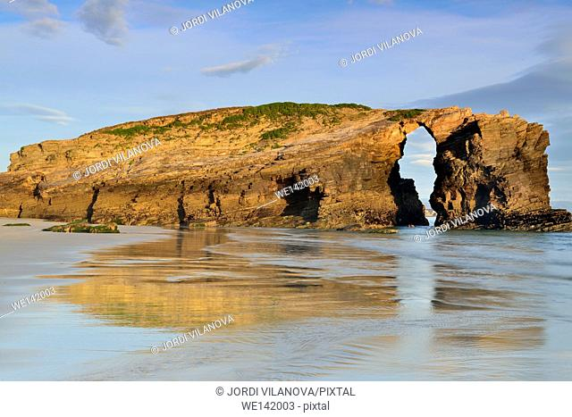 Beach. Playa de las Catedrales,Ribadeo,Galicia,Spain
