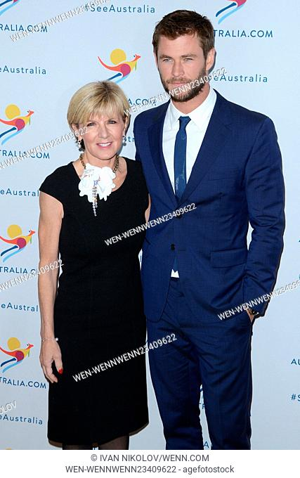 Chris Hemsworth Launches New Global Campaign with Tourism Australia Featuring: Hon. Julie Bishop, Chris Hemsworth Where: New York, New York