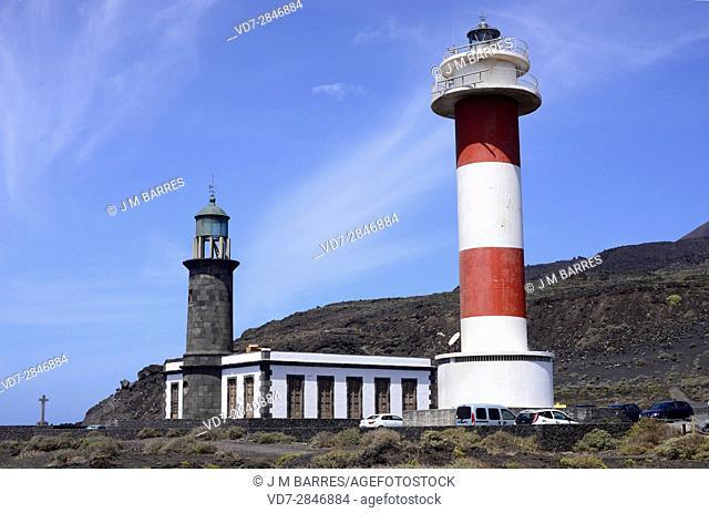 Fuencaliente lighthouse. La Palma Island, Santa Cruz de Tenerife province, Canary Islands, Spain