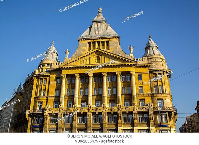 Colourful old building. Budapest Hungary, Southeast Europe