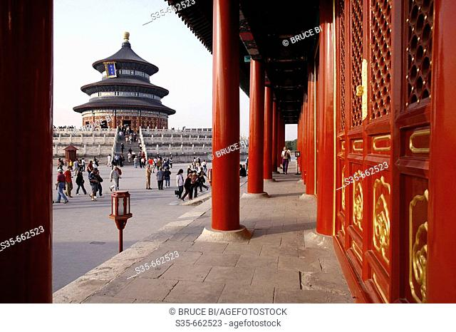 Qinian Hall (Hall of Prayer for good harvest) of  Temple of Heaven. Beijing. China
