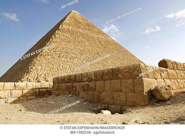Cheops Pyramid, Pyramids of Giza, Cairo, Egypt, Africa