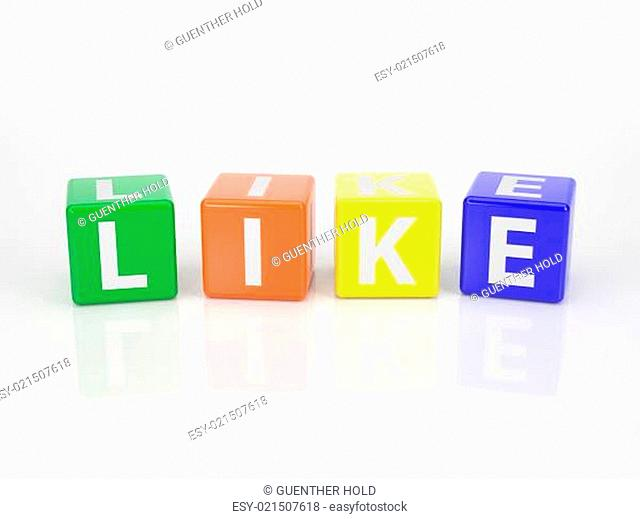 Like out of multicolored Letter Dices