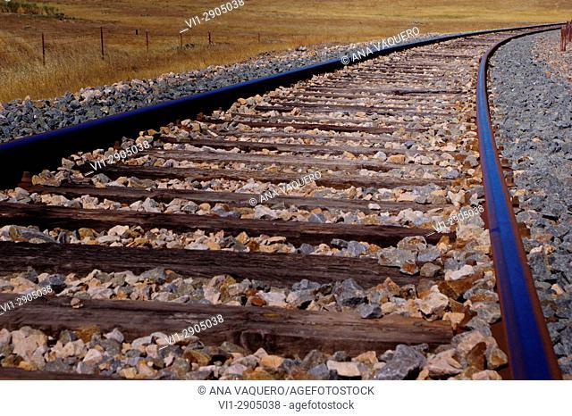 Train tracks, Malpartida de Cáceres, Estremadura