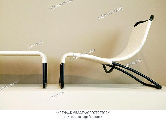 Modern chair. Los Angeles County Museum of Art. Los Angeles. California. United States