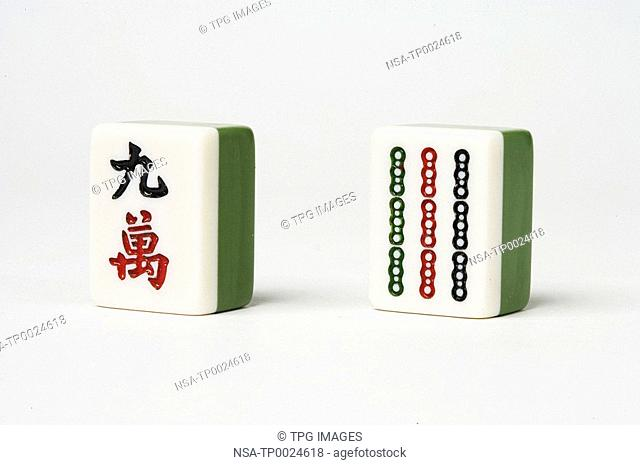 Close-up of mahjong