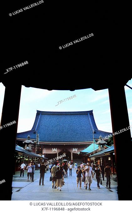 Asakusa Senso-ji Temple  Hozo-mon Gate Tokyo city, Japan, Asia