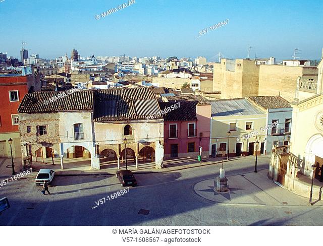 Overview of the city. Badajoz, Extremadura, Spain