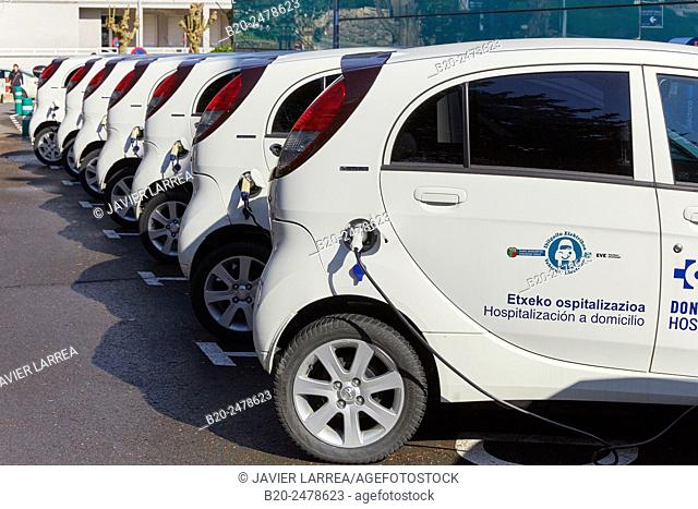 Electric cars, home hospitalization, Hospital Donostia, San Sebastian, Gipuzkoa, Basque Country, Spain