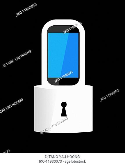 Smart phone padlock