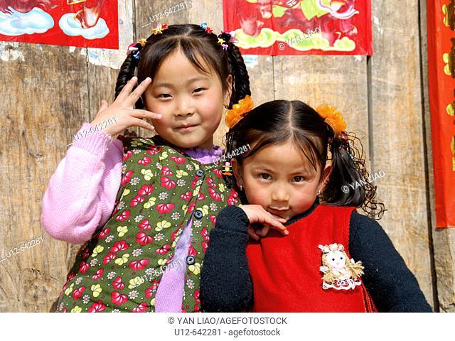 two happy girl