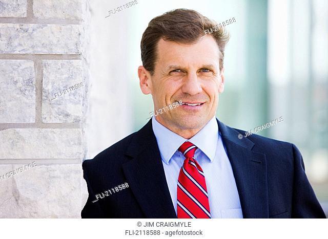 Portrait of a businessman outdoors, bradford ontario canada