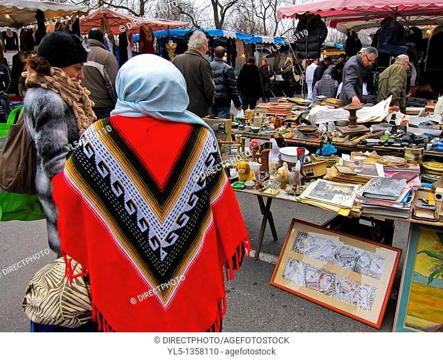 Paris, France, People Flea Market Shopping, Montreuil