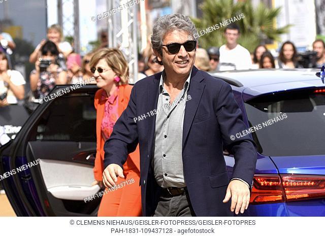 Ricardo Darin and Mercedes Moran are seen arriving at the Maria Cristina Hotel during the 66th San Sebastian International Film Festival on September 21
