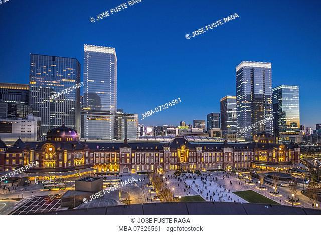 Japan, Tokyo City, Marunouchi District, Tokyo Station West Side