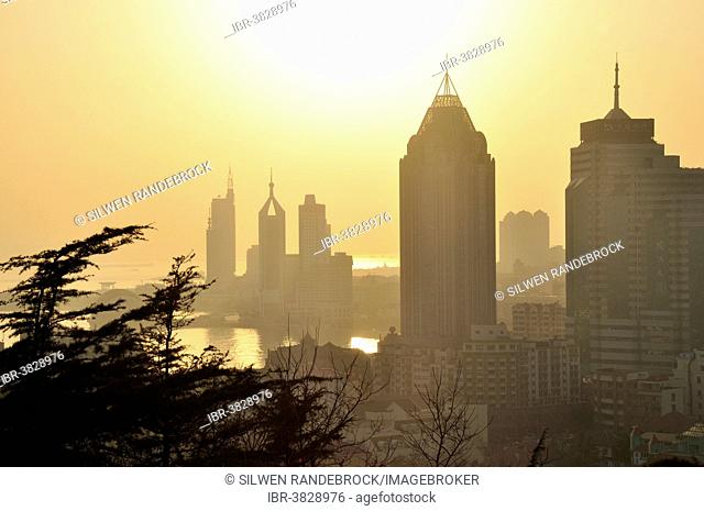 Skyline by the sea in Qingdao, Shandong, China