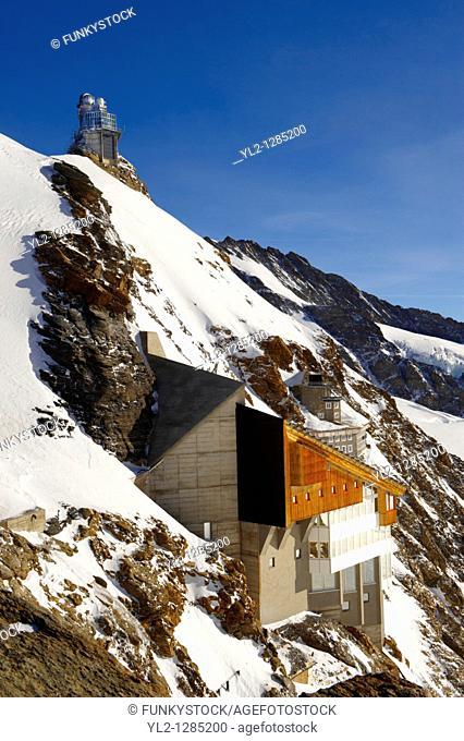 Jungrfrau Top of Europe Sphinx observatory, Jungfrau plateau Swiss Alps, Switzerland
