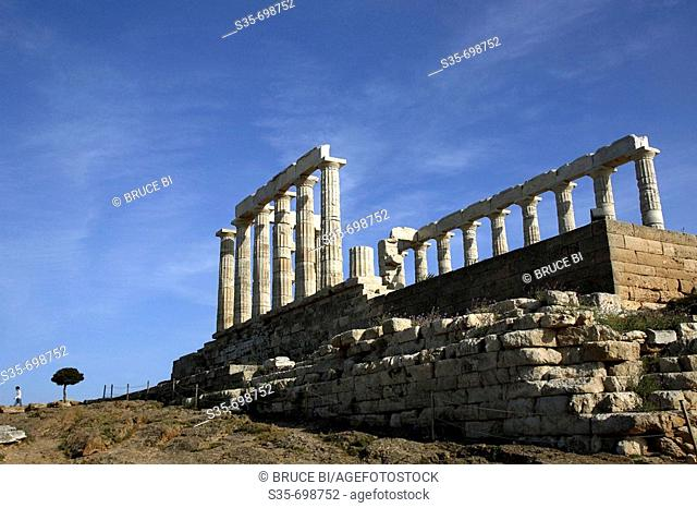Temple of Poseidon. Cape Sounion. Athens. Greece