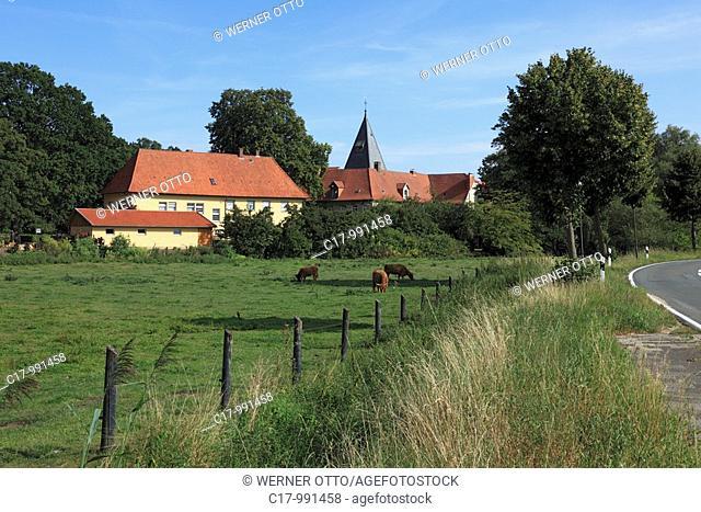 Germany, Bramsche, Hase, Hase valley, Mittelland Canal, Osnabrueck Country, Lower Saxony, Bramsche-Epe-Malgarten, Bramsche-Malgarten