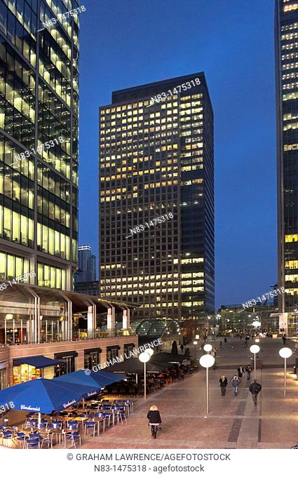 High Rise Office Blocks, Canary Wharf, London, United Kingdom, Europe