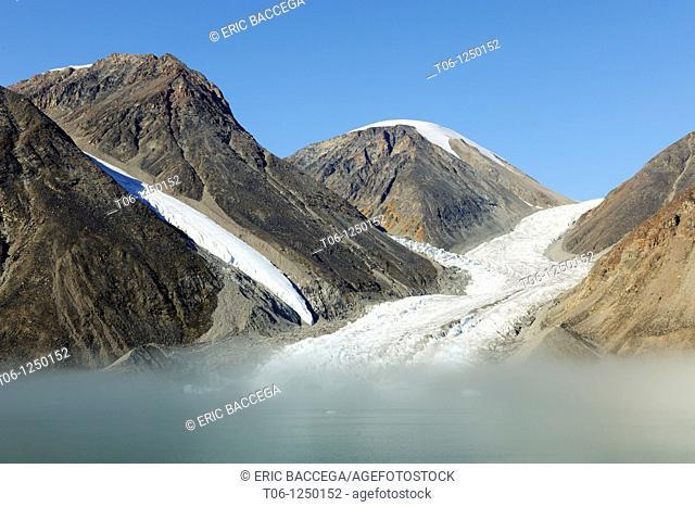 Glacier runoff in North Arm fjord, Baffin Island, Nunavut, Canada