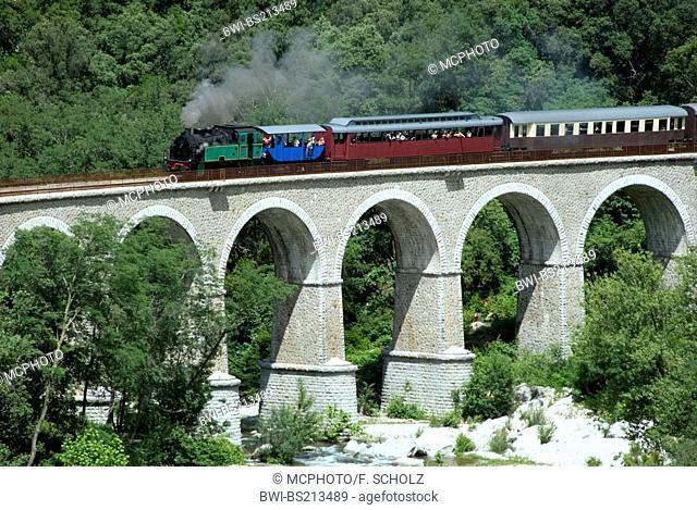 Train a vapeur des Cevennes, France, Languedoc-Roussillon, CÚvennes
