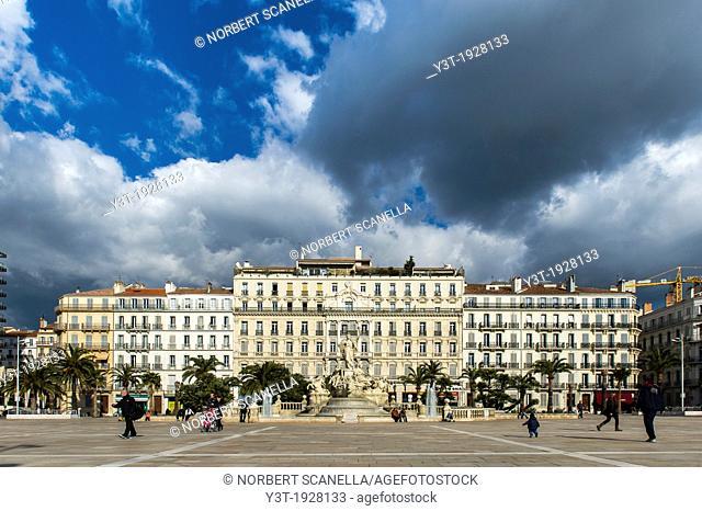 Europe, France, Var, Toulon. Liberty Square