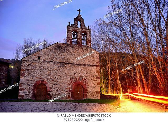 Church of San Miguel in Xagoaza, O Barco de Valdeorras, Orense, Spain