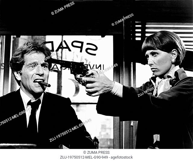 May 12, 1975; Hollywood, CA, USA; GEORGE SEGAL and STEPHANE AUDRAN star as Sam Spade Jr. and Anna Kemidov in the comedy ' The Black Bird' directed by David...