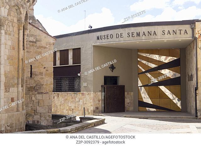 Zamora monumental town in Castile Leon, Spain. Holly week museum