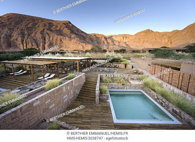 Chile, Antofagasta Region, San Pedro de Atacama, the Alto Atacama Hotel in the Atacama Desert