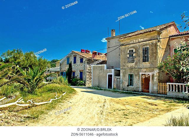 Old streets of Susak island, Croatia