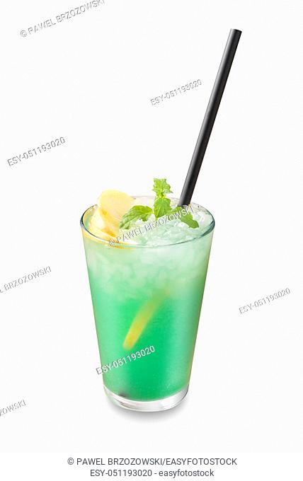 Green drink isolated on white background. For fast food restaurant design or fast food menu